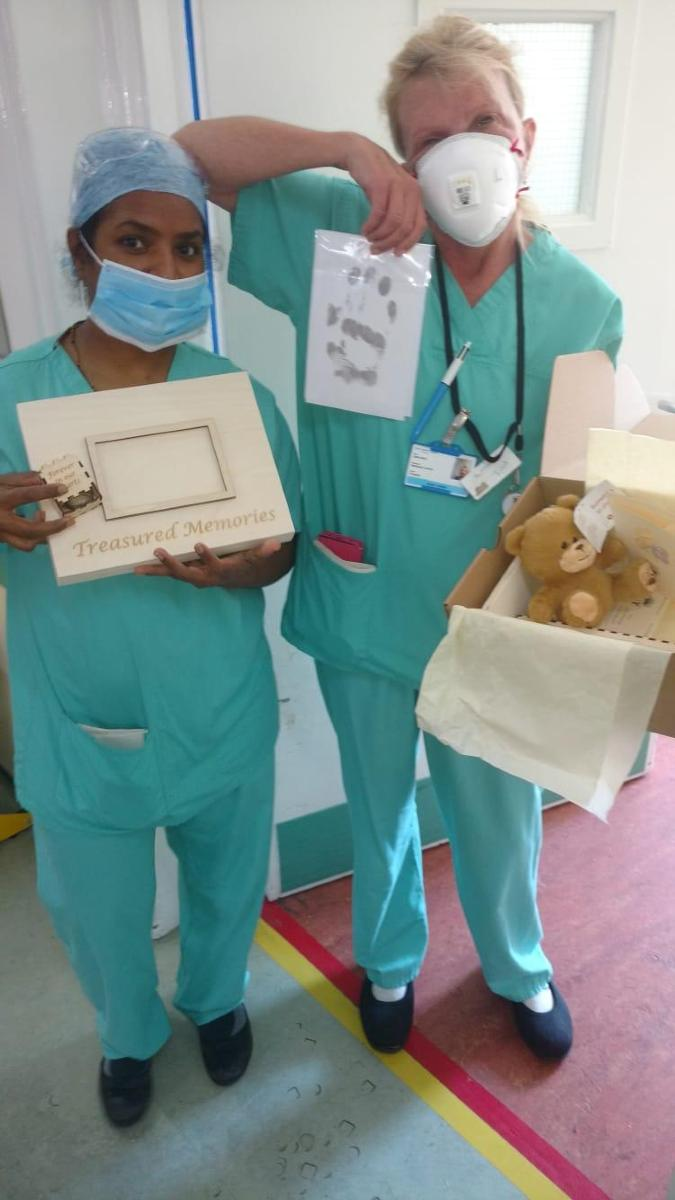 Staff with memory boxes